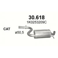 Резонатор Фольксваген Гольф V (Volkswagen Golf V) 1.6 03-08 (30.618) Polmostrow алюминизированный Polmostrow